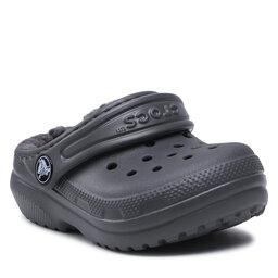 Crocs Šlepetės Crocs Classic Lined Clog K 203506 Slate Grey/Smoke