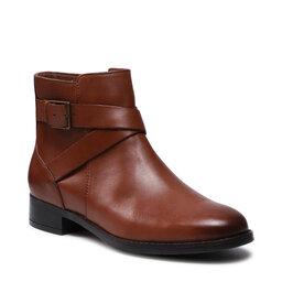 Clarks Aulinukai Clarks Hamble Buckle 261510114 Dark Tan Leather