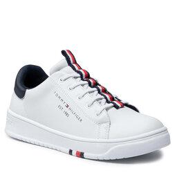 Tommy Hilfiger Laisvalaikio batai Tommy Hilfiger Low Cut Lace Up Sneaker T3B4-32052-0193 S White 100