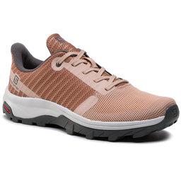 Salomon Трекінгові черевики Salomon Outbound Prism W 412681 20 M0 Sirocco/Mocha Mousse/Alloy