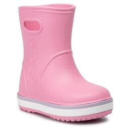 Crocs Guminiai batai Crocs Crocband Rain Boot K 205827 Pink Lemonade/Lavender