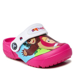 Crocs Šlepetės Crocs CROCS-Masha Bear Patch Clog Kids 207079 Candy Pink