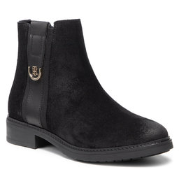 Tommy Hilfiger Aulinukai Tommy Hilfiger Th Hardware Suede Flat Boot FW0FW05974 Black BDS