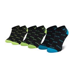 Fila Набір 3 пар низьких чоловічих шкарпеток Fila Calza F2642 Shock Black 292
