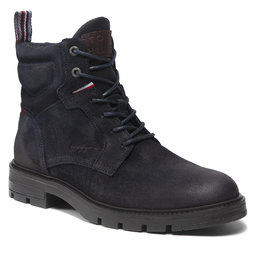 Tommy Hilfiger Ilgaauliai Tommy Hilfiger Elevated Padded Suede Boot FM0FM03778 Desert Sky DW5