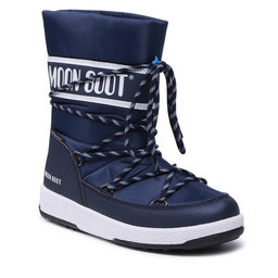 Moon Boot Sniego batai Moon Boot Jr Boy Sport Wp 34051300002 D Blue Navy/White