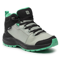 Salomon Трекінгові черевики Salomon Outward Cswp J 412848 09 W0 Phantom/Aqua Gray/Mint Leaf