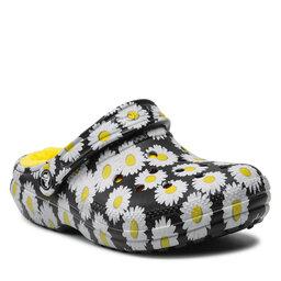 Crocs Шльопанці Crocs Classic Lined Vacay Vibes 207301 Black Daisy