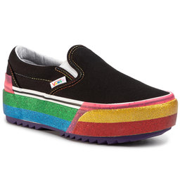 Vans Kedai Vans Classic Slip-On S VN0A4TZVWW11 (Glitter) Black/Rainbow