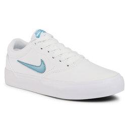Nike Взуття Nike Sb Charge Cnvs (Gs) CQ0260 100 White/Cerulean/White/Black
