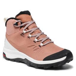 Salomon Трекінгові черевики Salomon Outsnap Cswp W 414414 20 V0 Mocha Mousse/Vanilia Ice/Black