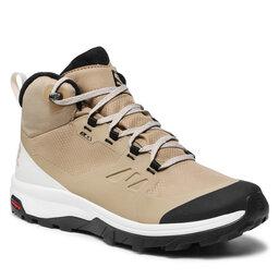 Salomon Трекінгові черевики Salomon Outsnap Cswp 414411 27 V0 Kelp/Vanilla Ice/Black