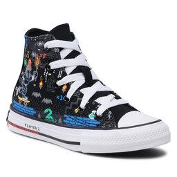 Converse Sportbačiai Converse Ctas Hi 670212C Black/Bright Poppy