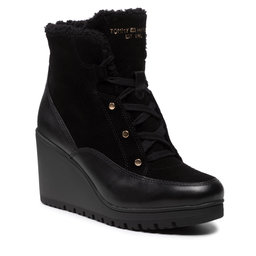 Tommy Hilfiger Aulinukai Tommy Hilfiger Warmlined Mid Wedge Boot FW0FW05990 Black BDS