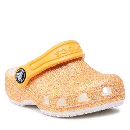 Crocs Šlepetės Crocs Classic Glitter Clog K 205441 Orange Sorbet Glitter