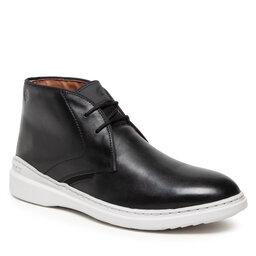 Clarks Auliniai batai Clarks Dennet Mid 261629317 Black Leather