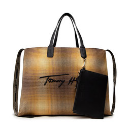 Tommy Hilfiger Rankinės Tommy Hilfiger Iconic Tommy Tote Check AW0AW10765 ZER