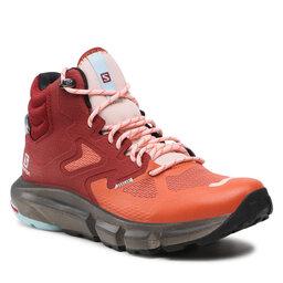 Salomon Трекінгові черевики Salomon Predict Hike Mid Gtx W GORE-TEX 414606 20 V0 Mecca Orange/Madder Brown/Crystal Blue