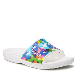 Crocs Шльопанці Crocs Classic Bubble Block Slide 207408 White/Multi