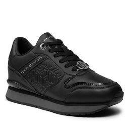 Tommy Hilfiger Laisvalaikio batai Tommy Hilfiger Dressy Wedge Sneaker FW0FW05936 Black BDS