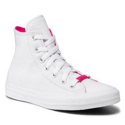 Converse Sportbačiai Converse Ctas Hi 571625C White/White/Prime Pink