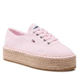 Tommy Jeans Espadrilės Tommy Jeans Essential Flatform Espadrille EN0EN01434 Light Pink TOG