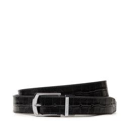 MICHAEL Michael Kors Vyriškas Diržas MICHAEL Michael Kors 34mm Ctfr Dress Belt 39F1LBLY1U Black
