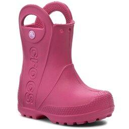 Crocs Гумові чоботи Crocs Handle It Rain Boot Kids 12803 Candy Pink