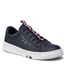Tommy Hilfiger Laisvalaikio batai Tommy Hilfiger Low Cut Lace Up Sneaker T3B4-32052-0193 S Blue 800