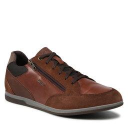 Geox Laisvalaikio batai Geox U Renan E U164GE 022CL C0915 Browncotto/Lt Brown