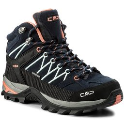 CMP Трекінгові черевики CMP Rigel Mid Wmn Trekking Shoes Wp 3Q12946 B. Blue/Giada/Peach 92AD