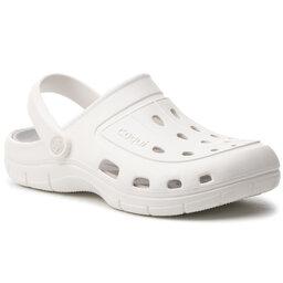 Coqui Шльопанці Coqui Jumper 6351-100-3246 White/Khaki Grey