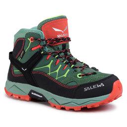 Salewa Трекінгові черевики Salewa Jr Alp Trainer Mid Gtx GORE-TEX 64006-5960 Myrtle/Tender Shot