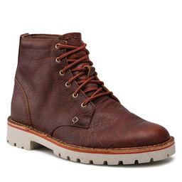 Clarks Ilgaauliai Clarks Overdale High 261629227 Dark Tan Leather