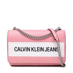 Calvin Klein Jeans Rankinė Calvin Klein Jeans Ew Flap Convertible K60K608562 Soft Berry TIV