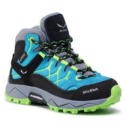 Salewa Трекінгові черевики Salewa Jr Alp Trainer Mid Gtx GORE-TEX 64006-8375 Blue Danbe/Fluo Green