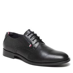 Tommy Hilfiger Pusbačiai Tommy Hilfiger Casual Leather Laces Shoe FM0FM03753 Black BDS