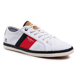 Pepe Jeans Espadrilės Pepe Jeans Maui Blucher PMS30710 White 800