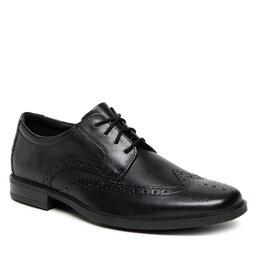 Clarks Pusbačiai Clarks Howard Wing 261612537 Black Leather