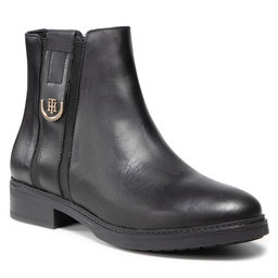Tommy Hilfiger Aulinukai Tommy Hilfiger Th Hardware Leather Flat Boot FW0FW05996 Black BDS