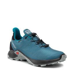 Salomon Взуття Salomon Supercross 3 Gtx GORE-TEX 414556 Mallard Blue/Black/Crystal Teal