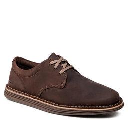 Clarks Pusbačiai Clarks Forge Vibe 261548567 Dark Brown Leather