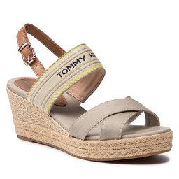 Tommy Hilfiger Espadrilės Tommy Hilfiger Th Artisandal Mid Wedge Sandal FW0FW05770 Stone AEP