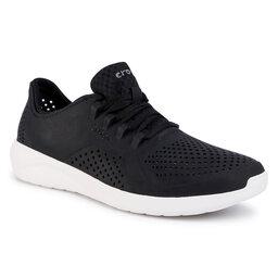 Crocs Pusbačiai Crocs Literide Pacer M 204967 Black/White