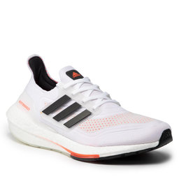 adidas Batai adidas Ultraboost 21 S23863 Cloud White/Core Black/Solar Red
