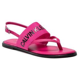 Calvin Klein Jeans Босоніжки Calvin Klein Jeans Flat Sandal Toe Pl YW0YW00025 Party Pink TPZ