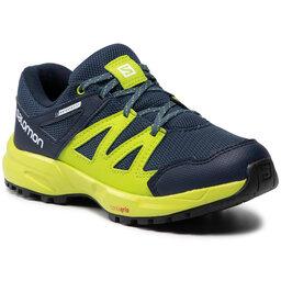 Salomon Трекінгові черевики Salomon Huapi Cswp J 412320 10 m0 Dark Denim/Navy Blazer/Lime Green