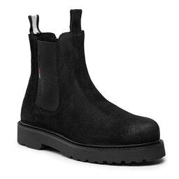 Tommy Jeans Štibletai Tommy Jeans Suede Chelsea Boot EM0EM00829 Black BDS
