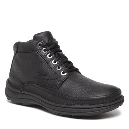 Clarks Auliniai batai Clarks Nature Lite 261611957 Black Leather