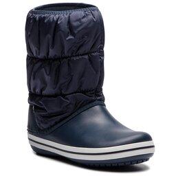 Crocs Снігоходи Crocs Winter Puff Boot 14614 Navy/White